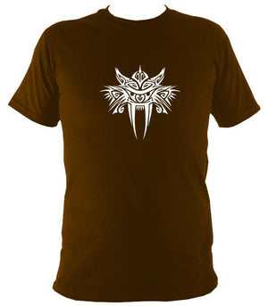 Tribal Sabre Tooth T-Shirt - T-shirt - Dark Chocolate - Mudchutney
