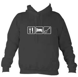 Eat, Sleep, Play Banjo Hoodie-Hoodie-Charcoal-Mudchutney