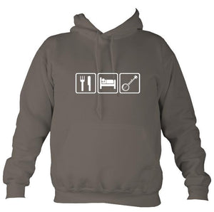 Eat, Sleep, Play Banjo Hoodie-Hoodie-Mocha brown-Mudchutney