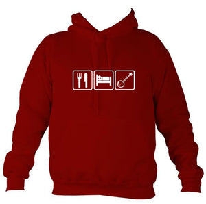 Eat, Sleep, Play Banjo Hoodie-Hoodie-Red hot chilli-Mudchutney