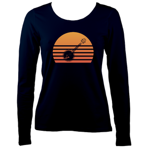 Banjo Sunset Womens Long Sleeve Shirt