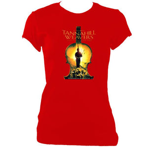update alt-text with template Tannahill Weavers Ladies Fitted T-Shirt - T-shirt - Red - Mudchutney