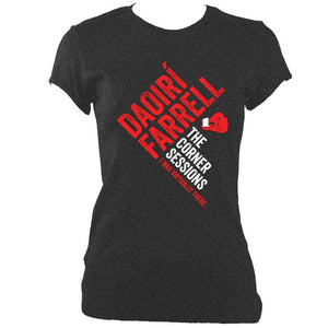 update alt-text with template Daoiri Farrell Corner Session Boxing Glove Women's Fitted T-shirt - T-shirt - Dark Heather - Mudchutney