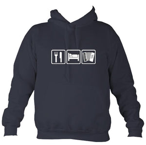 Eat, Sleep, Play Melodeon Hoodie-Hoodie-Denim-Mudchutney