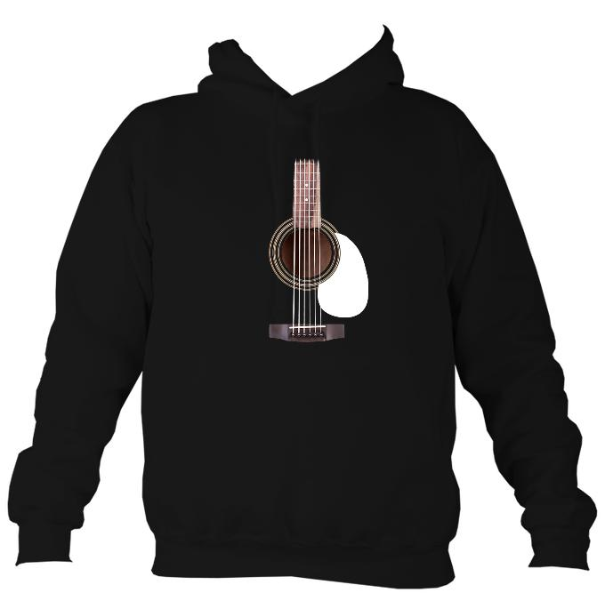 Guitar Strings and Neck Hoodie-Hoodie-Jet black-Mudchutney