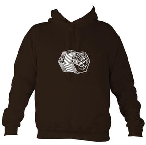 English Concertina sketch hoodie in black