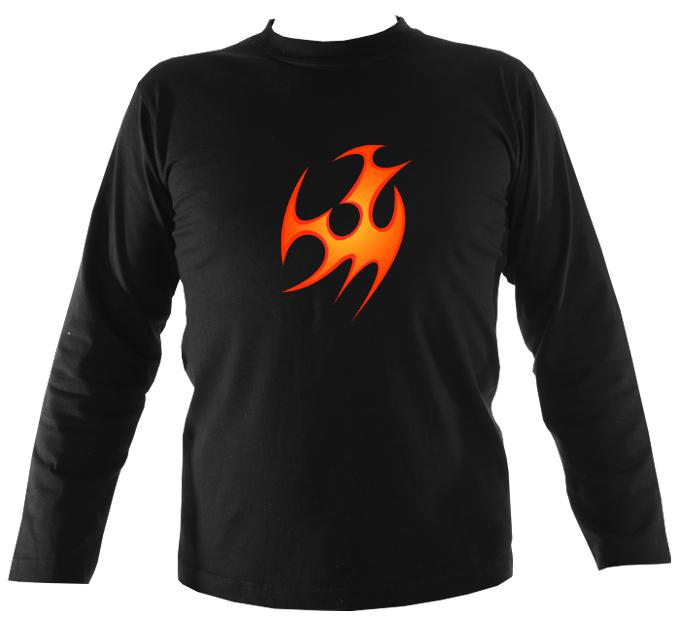 Tribal Fire Mens Long Sleeve Shirt