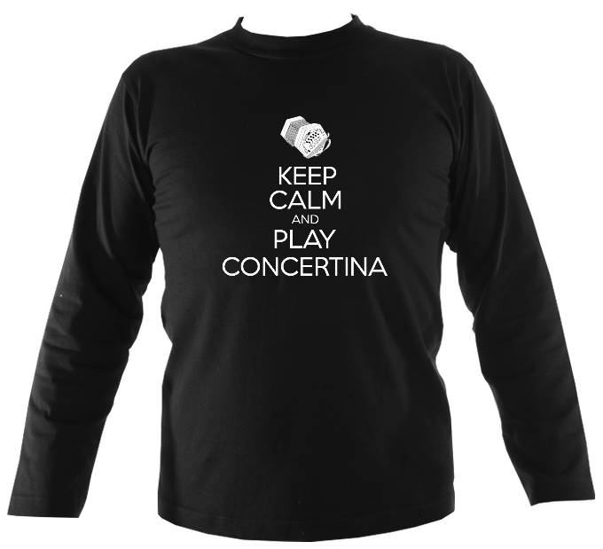 Keep Calm and Play Anglo Concertina Mens Long Sleeve Shirt
