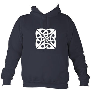 Celtic Square-ish Design Hoodie-Hoodie-Denim-Mudchutney