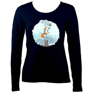 Cambridge Folk Festival - Design 10 - Women's Long Sleeve Shirt - Long Sleeved Shirt - Navy - Mudchutney