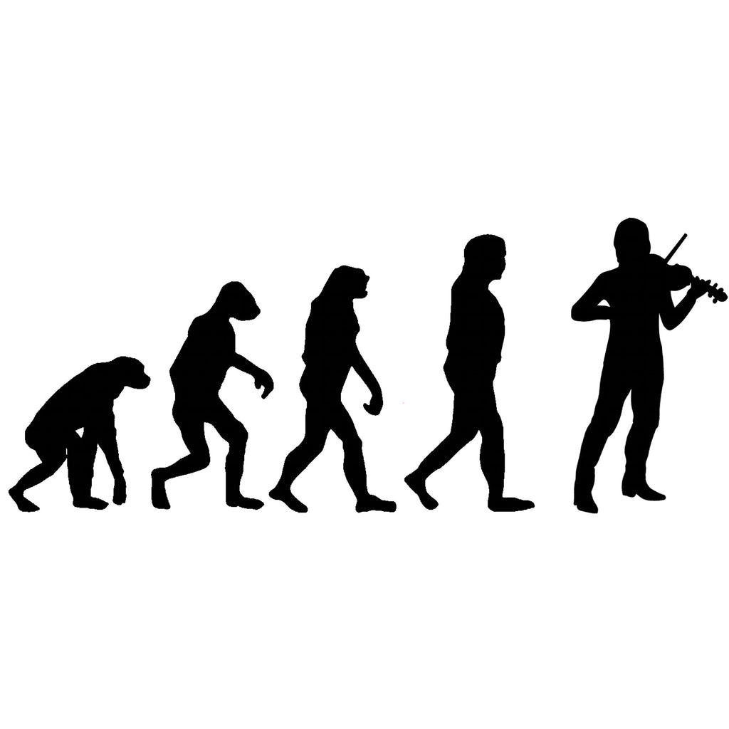 Evolution of Fiddle Players T-shirt - T-shirt - - Mudchutney