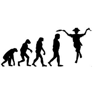 Evolution of Morris Dancers T-shirt - T-shirt - - Mudchutney