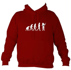 Evolution of Banjo Players Hoodie-Hoodie-Red hot chilli-Mudchutney