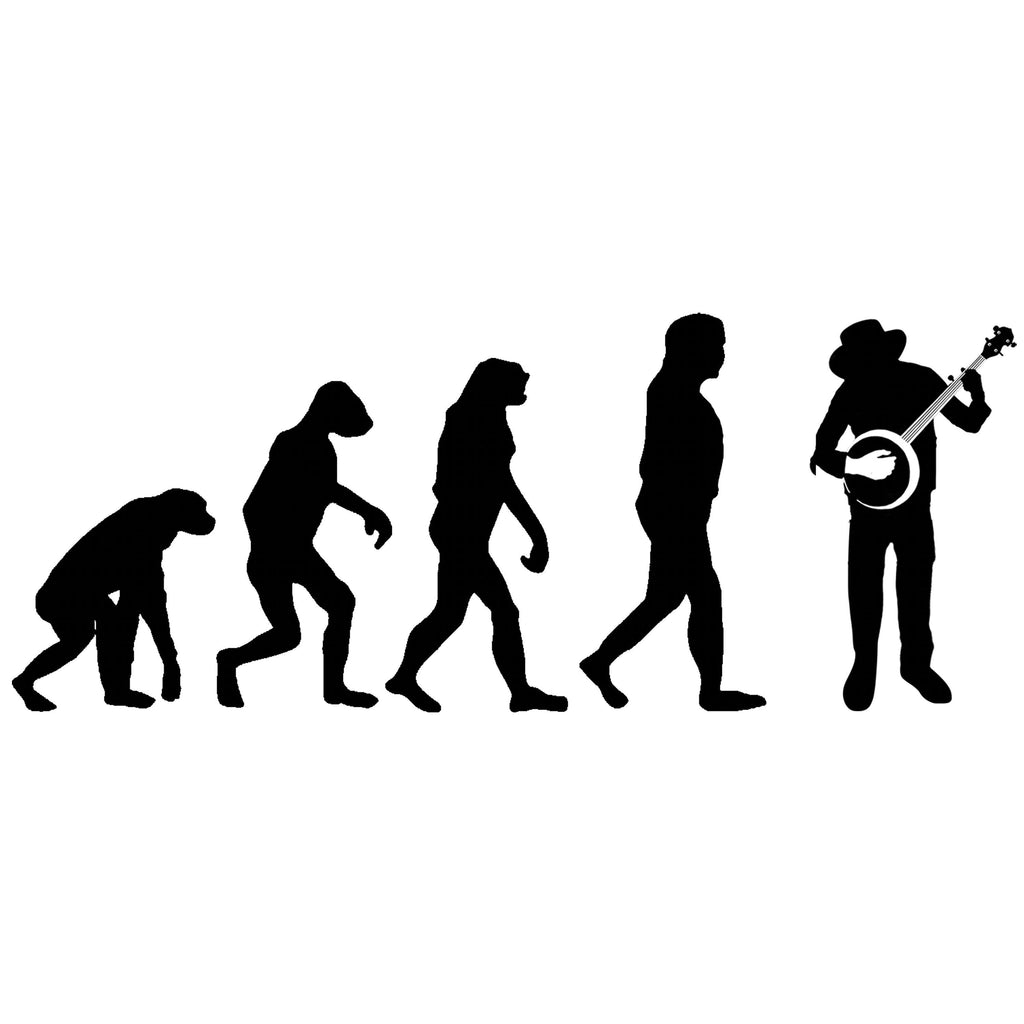 Evolution of Banjo Players T-shirt - T-shirt - - Mudchutney