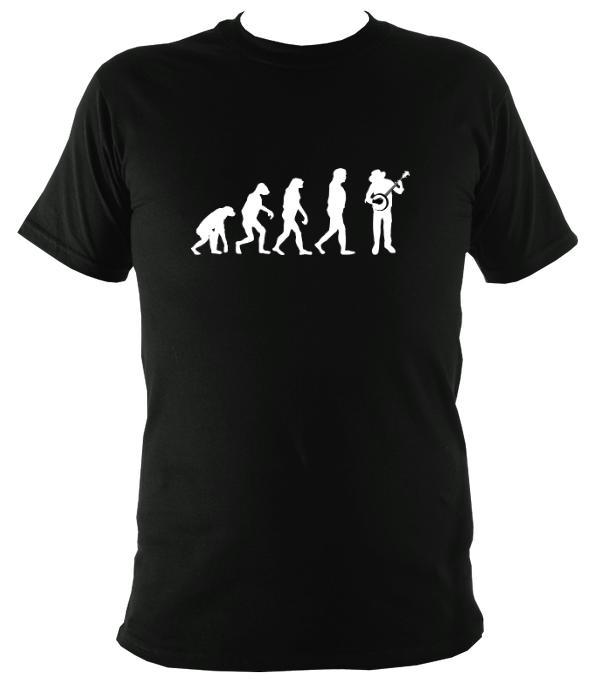 Evolution of Banjo Players T-shirt - T-shirt - Black - Mudchutney
