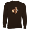 Squirrel playing Concertina Sweatshirt