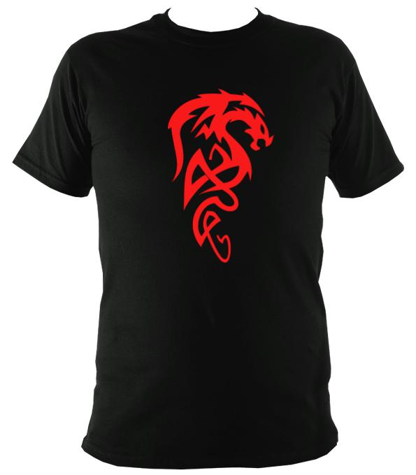 Tribal Dragon T-shirt - T-shirt - Black - Mudchutney