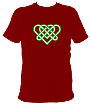 Celtic Triple Hearts Knot T-shirt - T-shirt - Cardinal Red - Mudchutney