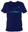 Kitesurfing T-shirt with stylised waves