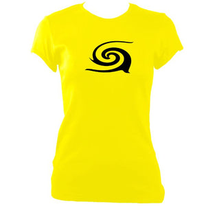 Tribal Spiral Ladies Fitted T-shirt