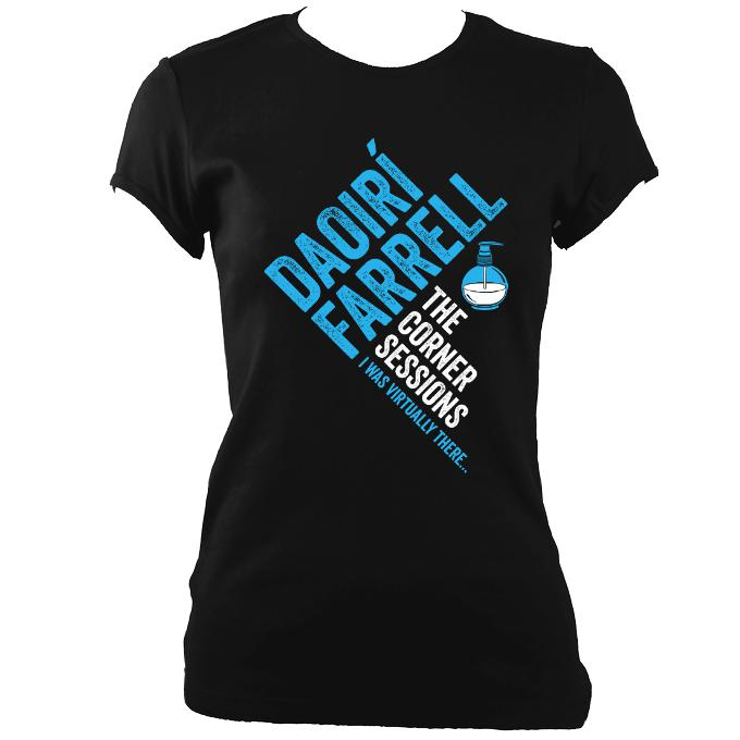 update alt-text with template Daoiri Farrell Corner Session Bottle Women's Fitted T-shirt - T-shirt - Black - Mudchutney