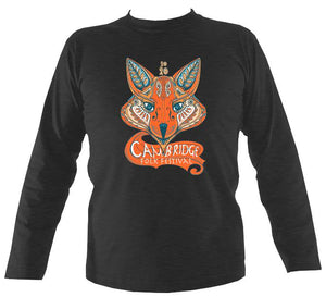 Cambridge Folk Festival - Design 7 - Mens Long Sleeve Shirt - Long Sleeved Shirt - Dark heather - Mudchutney