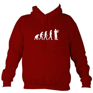 Evolution of Flute Players Hoodie-Hoodie-Red hot chilli-Mudchutney