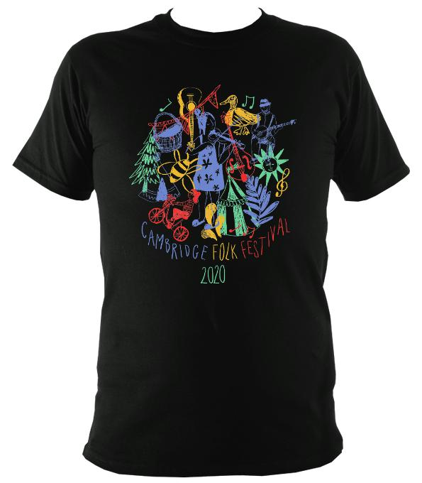 Cambridge Folk Festival - Design 9 - T-shirt - T-shirt - Black - Mudchutney