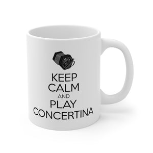 Keep Calm Concertina Mug | Keep Calm & Play Anglo Concertina Mug | Irish Concertina Mug