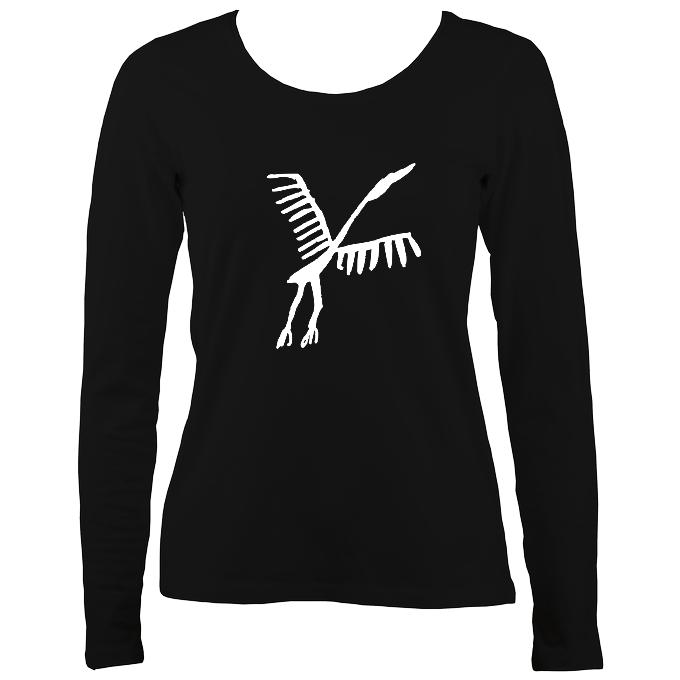 Ancient Spanish Bird Ladies Long Sleeve Shirt