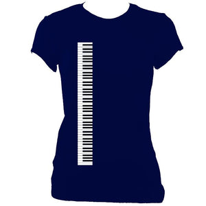 Piano / Accordion Keyboard Ladies Fitted T-shirt-Women's fitted t-shirt-Mudchutney