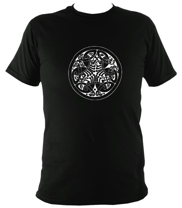 Traditional Celtic Birds T-shirt - T-shirt - Black - Mudchutney