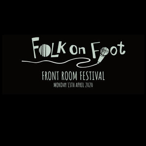 "update alt-text with template Folk on Foot ""Front Room Festival"" Ladies Fitted T-shirt - T-shirt - Black - Mudchutney"
