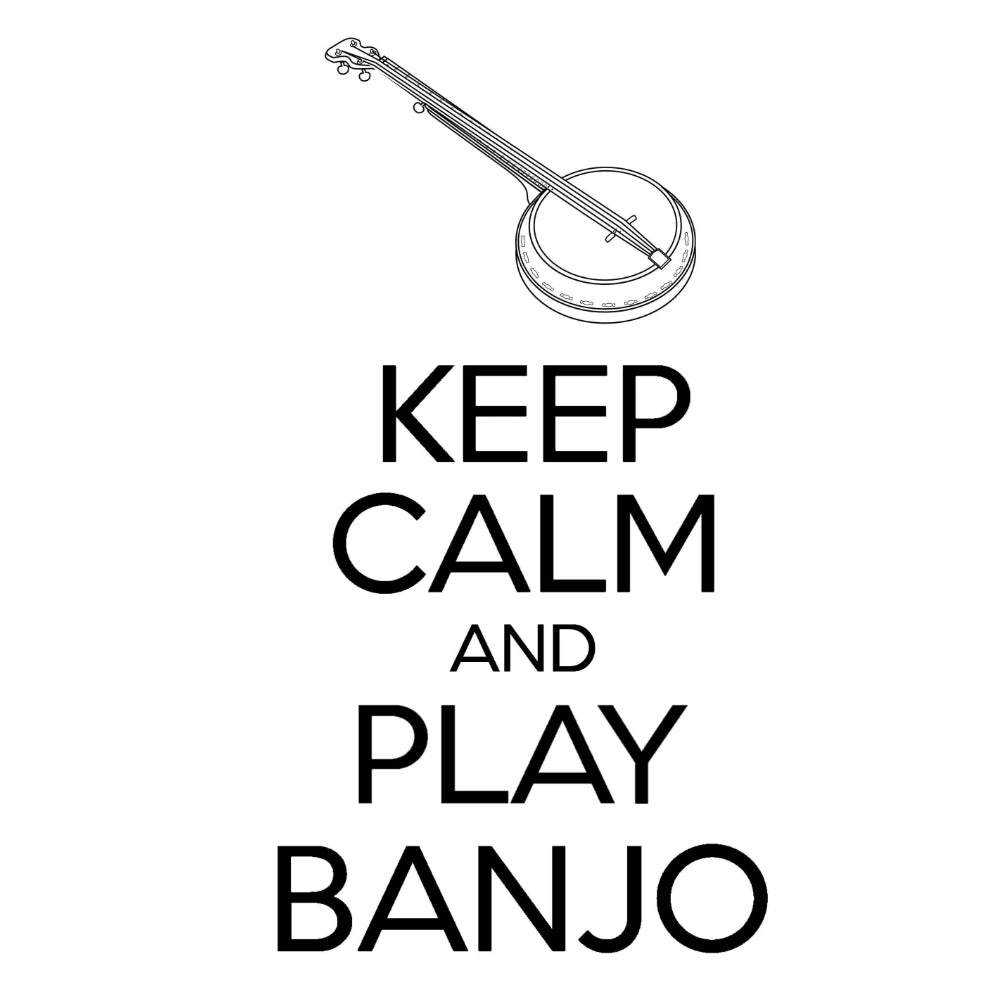 Keep Calm & Play Banjo T-shirt - T-shirt - - Mudchutney