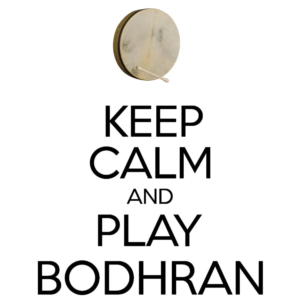 Keep Calm & Play Bodhran T-shirt - T-shirt - - Mudchutney
