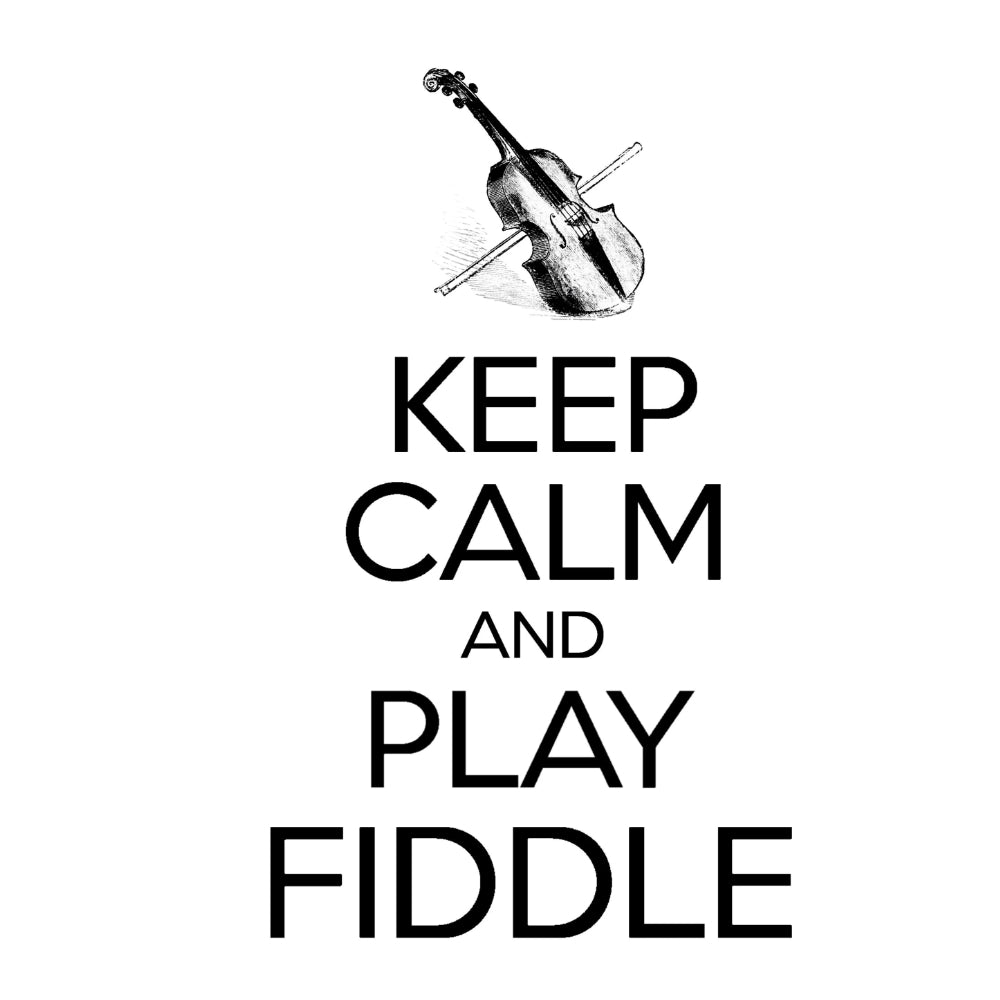Keep Calm & Play Fiddle T-shirt - T-shirt - - Mudchutney