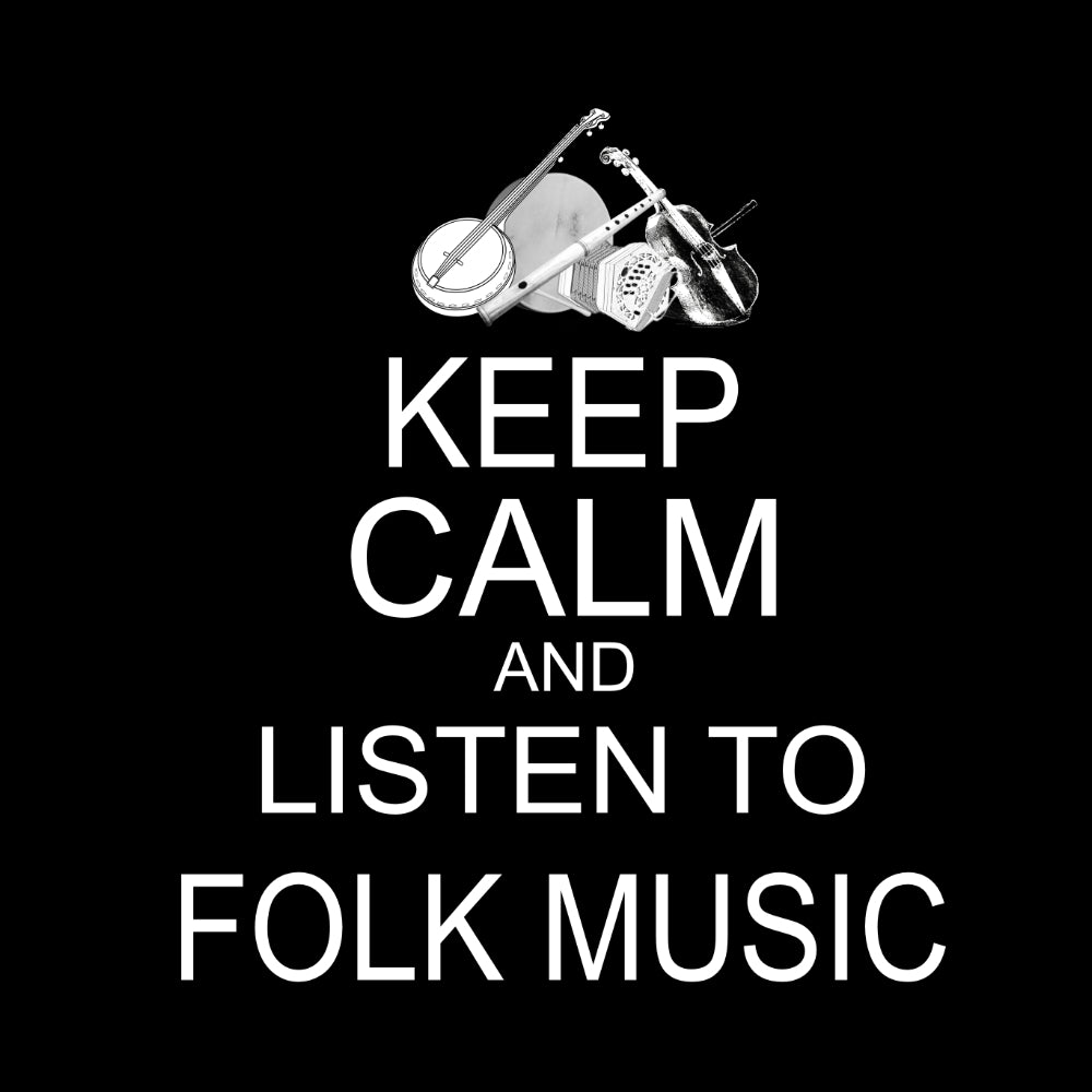 Keep Calm & Play Folk Music Hoodie-Hoodie-Mudchutney