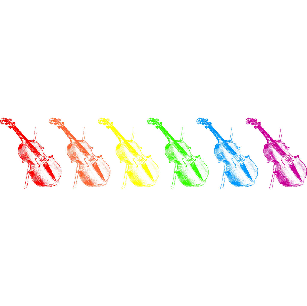 Rainbow Fiddles Ladies Fitted T-shirt