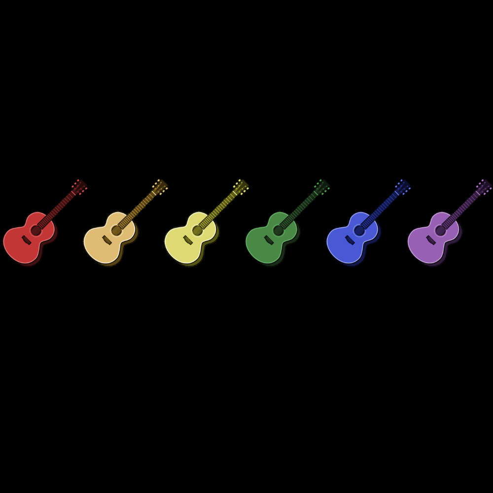 Rainbow Coloured Row of Guitars Sweatshirt