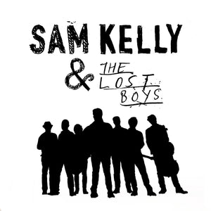 update alt-text with template Sam Kelly and the Lost Boys Ladies Fitted T-shirt - T-shirt - White - Mudchutney
