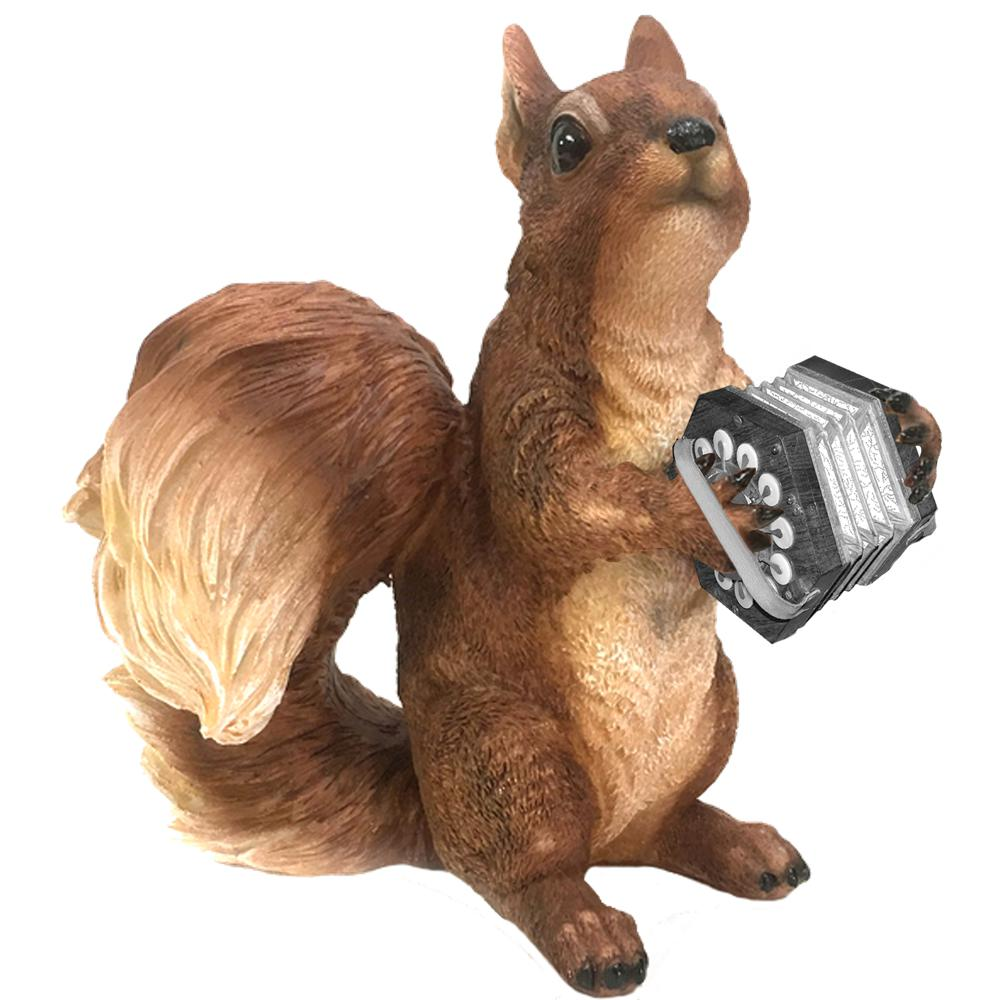 Concertina Playing Squirrel T-shirt - T-shirt - - Mudchutney
