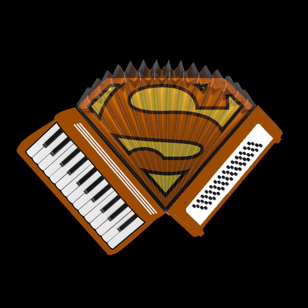 Accordion Superman T-Shirt
