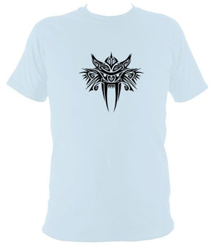 Tribal Sabre Tooth T-Shirt - T-shirt - Light Blue - Mudchutney