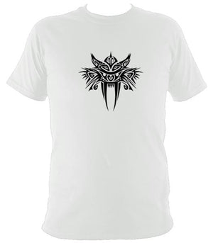 Tribal Sabre Tooth T-Shirt - T-shirt - White - Mudchutney