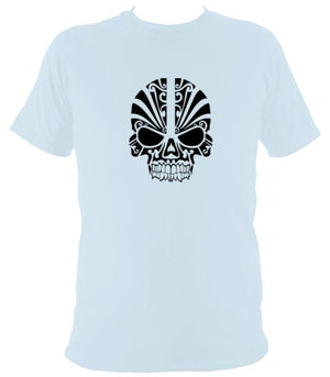 Tribal Skull T-shirt - T-shirt - Light Blue - Mudchutney