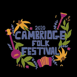 update alt-text with template Cambridge Folk Festival - Design 4 - Women's Fitted T-Shirt - T-shirt - Black - Mudchutney