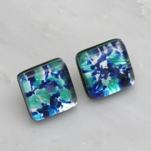 Murano Sea Foam Earrings