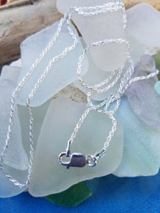 Diamond Cut Sterling Rope Chain