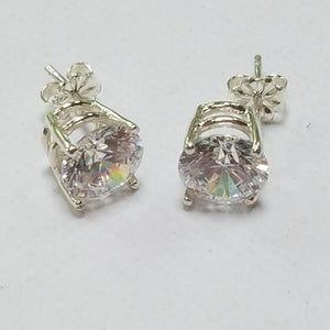Swarovski Sterling Silver CZ Earrings