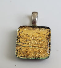 Dichroic Pendants with Silverplated Snake Chain